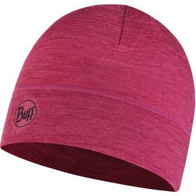 Buff Lightweight Merino Wool Hat purple multi stripes